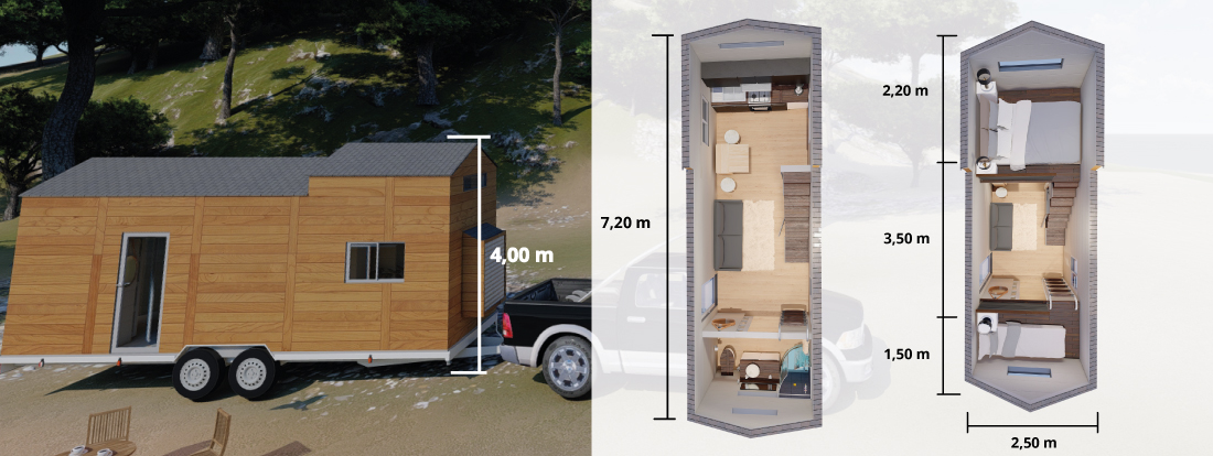 plan d'une tiny house